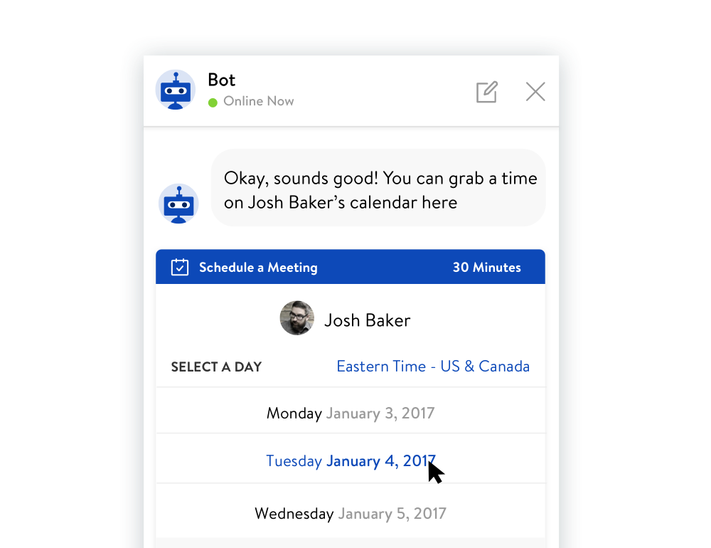 Book More Meetings using the Bot